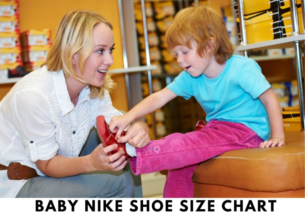 Baby Nike shoe size chart